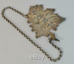 1843 Victorian Solid Silver PORT Decanter Label