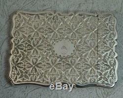 1867 Victorian English Hallmarked Sterling Silver Card Case