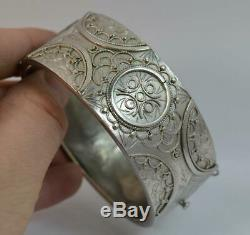 1882 Victorian Aesthetic Period Chester Silver Bangle
