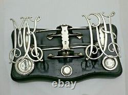1895 Antique Sterling Solid Silver Postal Scales & Weights (1757-9-LGNY)