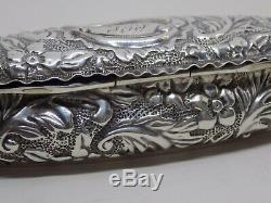1895 DEAKIN & FRANCIS Ltd VICTORIAN ENGLISH STERLING SILVER BOX. TRINKET/SNUFF