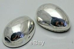 1899 Antique Solid Silver Egg Shape Ring Box Ideal for Special Ring 1462/C/WNY