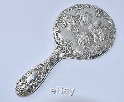 4 Piece 1969 Sterling Silver REYNOLDS ANGELS Brush Set Hand Mirror, Brush, Comb