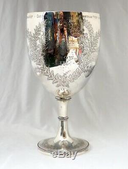 588gm Sterling Silver Trophy Goblet. Smithfield Show 1886. Snailwell, Newmarket