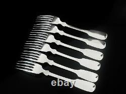 6 Antique Silver Dinner Table Forks, M J Rückert of Mainz c. 1890 (2)