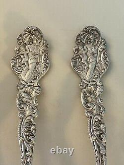 6 Gorham Sterling VERSAILLES (1888) 5 o'clock Spoons 5 1/8