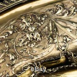 ANTIQUE 19thC VICTORIAN SOLID SILVER MAGNIFICENT SIDEBOARD DISH, J S HUNT c. 1838