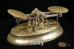 ANTIQUE VICTORIAN ENGLISH STERLING SILVER POSTAL SCALES by SAMSON MORDAN & Co