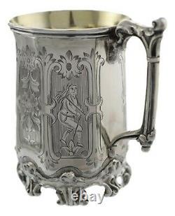 ANTIQUE Victorian Sterling Silver H J Lias & Son Cup (Mug / Tankard) 1857
