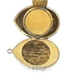 ANTQ Sterling Silver Walnut Compact Needle Case Vinaigrette Chatelaine Pendant