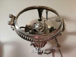 A Large Antique Silver Spirit Kettle, Burner & Stand Sheffield 1899