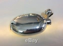 A SOLID SILVER VICTORIAN HIP Flask