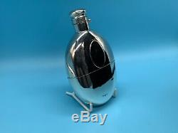 A Solid Silver Victorian Hip Flask And Cup Hallmarked For Birmingham 1893