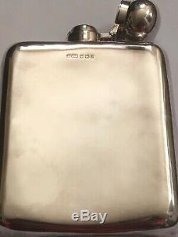 A late victorian James Dixon & son Ltd solid silver hip flask