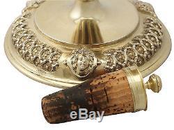Acid Etched Glass and Sterling Silver Gilt Claret Jug Antique Victorian