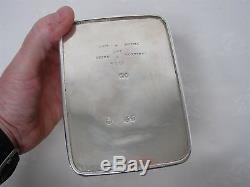 Antique 1867 Hunt & Roskell Late Storr & Mortimer 4558 Sterling Silver Tea Caddy