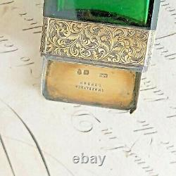 Antique 1877 Sampson Mordan vinaigrette scent bottle with silver gilded finish