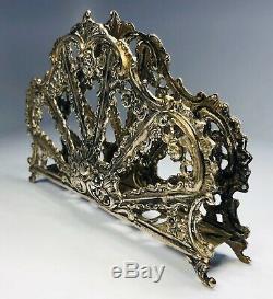 Antique 19th Century Victorian 800 Silver Napkin Holder