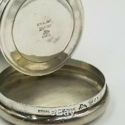 Antique Collapsible Cup Sterling Silver Mauser Mfg Co Travel Pocket Folding Case