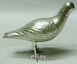 Antique Dutch Silver Bird 1890 stock id 7824