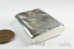 Antique English Victorian Silver Enamel Novelty Vesta / Match Safe Project