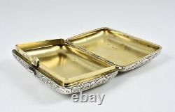 Antique English Victorian Solid Silver Snuff Box, (Thomas Johnson I, 1880)