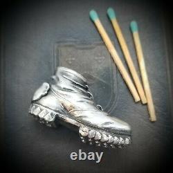 Antique Figural Shoe 800 Silver Match Safe Vesta Case
