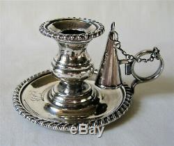 Antique Georgian Sterling Silver Chamberstick Candle Holder