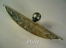 Antique Gorham Sterling Silver Desk Ink Blotter, Engraved Floral, No Mono, 175g