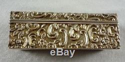 Antique Hallmarked Sterling Silver Snuff Trinket Box Walker & Hall Bham 1900