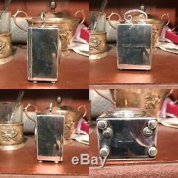 Antique Or Vintage Solid Silver Miniature Carriage Clock 925 London Import Mark