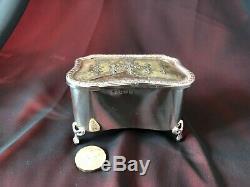 Antique Pique Tortoiseshell solid silver, 204 gr Trinket Box Victorian