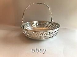 Antique Reticulated Sterling Silver Basket Handmade Signed Gorgeous Victorian