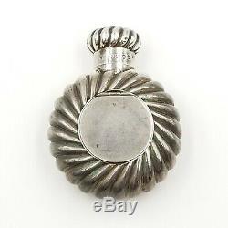Antique Sampson Mordan Sterling Silver Perfume Bottle Pill Box Scent Flask