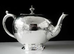 Antique Silver Bachelor Bullet Teapot, London 1857