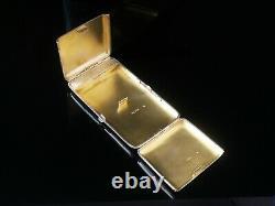 Antique Silver Cigarette Case Incorporating Vesta Case, Wright & Davies 1886