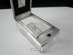 Antique Silver Lock Down Travelling Inkwell, London 1868, Thomas Whitehouse