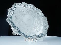 Antique Silver Salver Card Tray, Daniel & Charles Houle, London 1861