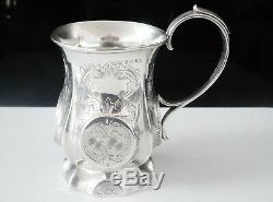 Antique Silver Tankard Mug Cup, Hilliard & Thomason, Birmingham 1856