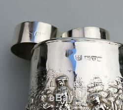 Antique Solid Silver A fine & rare Chester George V Tea Caddy C. 1911