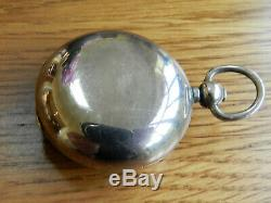 Antique Solid Silver Fob Sovereign Case Holder