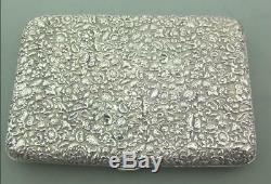 Antique Solid Silver Victorian Card Case Aide Memoire Sampson Mordan 1879