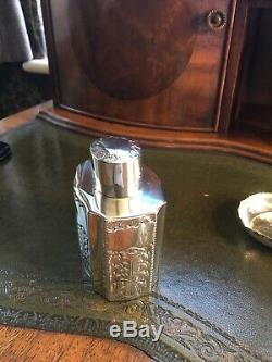 Antique Solid Silver Victorian Tea Caddy C1893