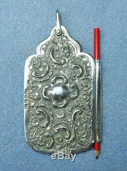 Antique Sterling Silver Chatelaine George Unite Aide Memoire Notebook HM 1899