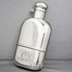 Antique Sterling Silver Flask with Cork Top