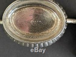 Antique Sterling Silver Tea/Coffee Set Bernard Hertz Denmark Late 1800's 463g