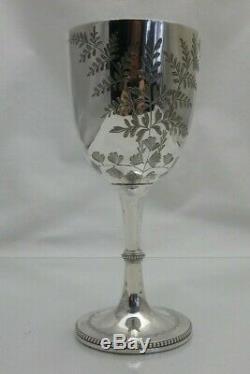 Antique Sterling Solid Silver 1893 Victorian Goblet 17.5cm 162g (1373-9/VKS)