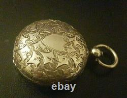 Antique VICTORIAN 1885-86 Birmingham SOLID SILVER Full Sovereign Case / MINT