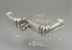 Antique Victorian 1898 P&S English Sterling Silver Match Vesta Safe Case Holder