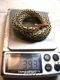 Antique Victorian Canadian Gold Book Chain Albert Watch Chain Not For Scrap